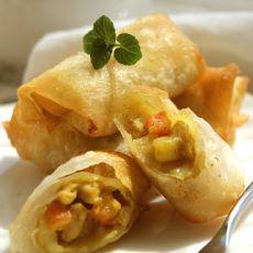 东南亚脆皮咖喱猪肉卷