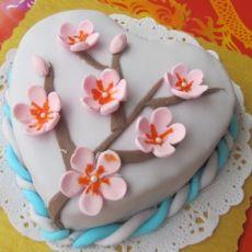 翻糖蛋糕---腊梅咏春