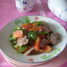 家常菜――青椒炒肉片