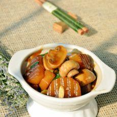 蚝油萝卜炖口蘑
