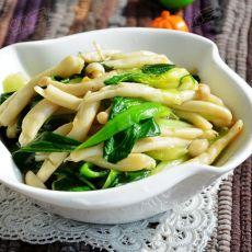 油菜烩鲜菇