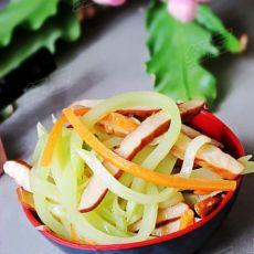 简单家常菜---莴笋炒香干的做法