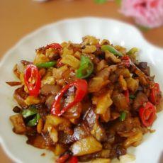 萝卜干炒腊肉的做法