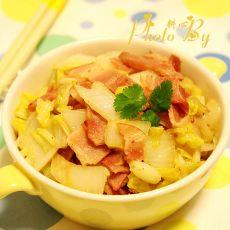 大白菜炒培根