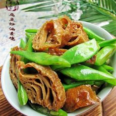 简单家常菜----扁豆炒油素鸡
