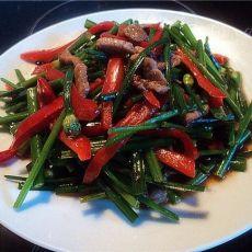 家常菜肉丝炒韭菜花的做法