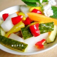 家庭自制开胃解腻醋泡菜的做法