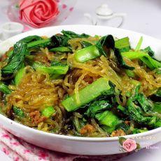 小白菜炖粉条的做法