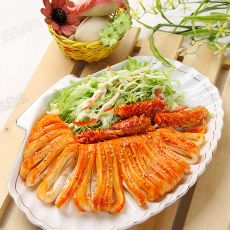 韩式鱿鱼配圆白菜沙拉
