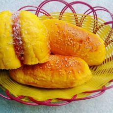 南瓜果酱面包的做法