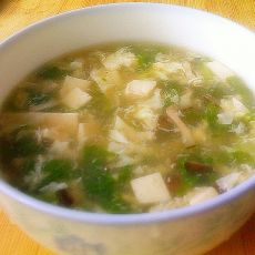 香菇青菜豆腐羹的做法