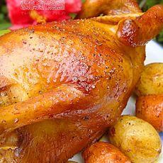 黑椒蒜香烤鸡