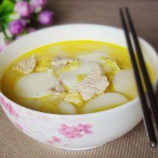 大白菜肉片汤年糕