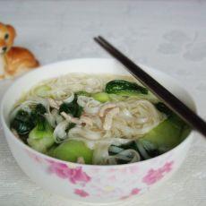 肉丝菜汤面