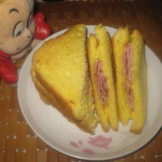 芝士培根三明治的做法