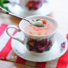 西瓜米酒小汤圆