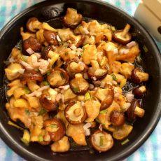 蘑菇烤鸡腿肉