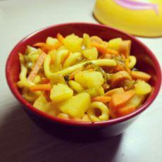 咖喱土豆乌冬面的做法
