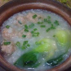 砂锅陈皮肉丸粥