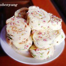 葱香火腿蛋糕卷