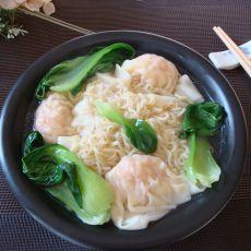 鲜虾馄饨快餐面的做法