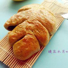 抹茶树叶面包
