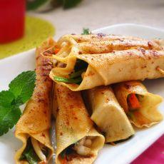 香辣豆皮蔬菜卷