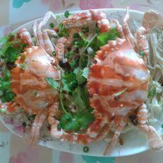 金针茹粉丝蒸蟹