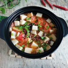 番茄鸡枞油煮凉粉