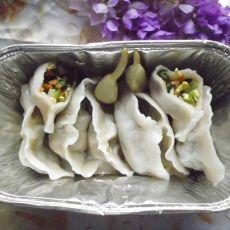 韭菜胡萝卜鸡蛋水饺