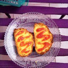 番茄酱面包片的做法