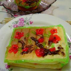 果酱彩绘蛋糕