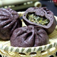 紫米荠菜大包子