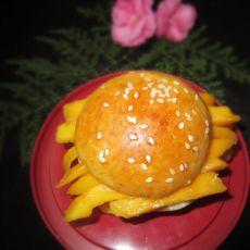芒果汉堡的做法