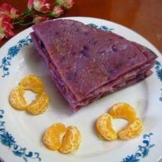 椰香紫薯饼