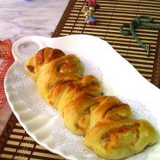 奶酪培根麦穗面包