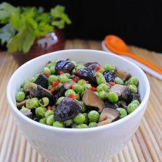 香菇炒豌豆