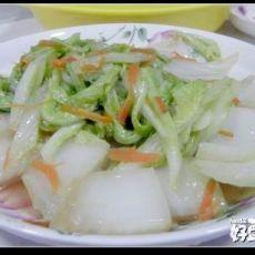 10分钟家常菜――漂亮的清炒大白菜