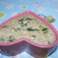 香菇菠菜粥
