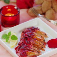 玫瑰酱烤虾的做法