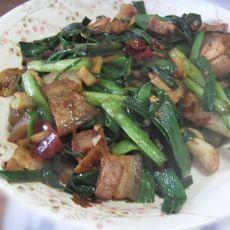 大蒜叶子炒回锅肉的做法