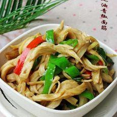美味家常菜---蚝油青椒面筋