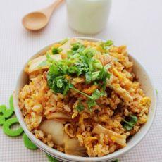 韩式泡菜香肠蛋炒饭的做法