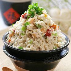 青椒玉米肠炒豆渣