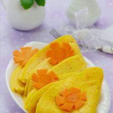 营养翻倍的胡萝卜玉米蛋饼的做法