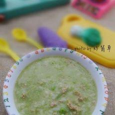 有助于宝宝长个子的(豌豆瘦肉粥)的做法