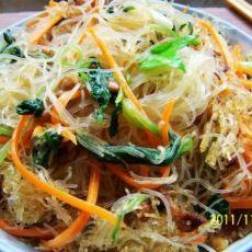 快手早餐---肉丝青菜炒米粉的做法