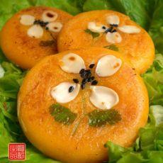 四叶花南瓜饼的做法