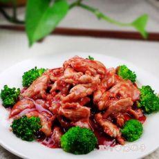 色泽红艳的腐乳爆肉的做法