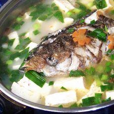 鱼头豆腐火锅的做法